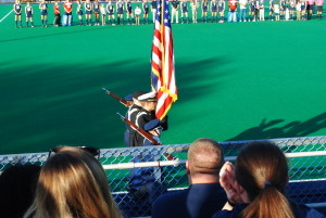 Color Guard Field Hockey Military Appreciation 2015